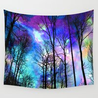 decal Wall Tapestries featuring fantasy sky by haroulita