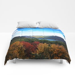 Hudson Valley Autumn Sky 10/18/15 Comforters