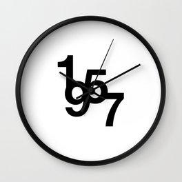 Helvetica Typoster #2 Wall Clock