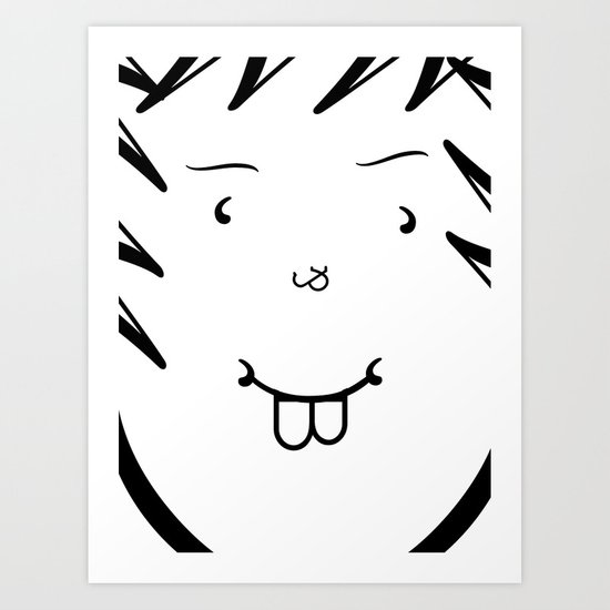 Type Face Art Print