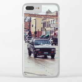 Downtown Street - Sheridan, WY Clear iPhone Case