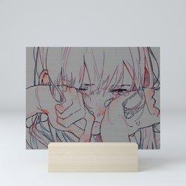 Sad anime aesthetic - don' cry Mini Art Print