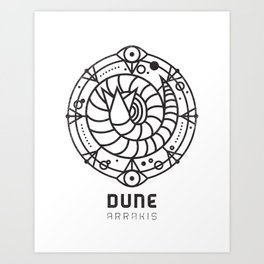 SANDWORM: ARRAKIS BADGE Art Print