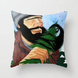 Morning Routine Throw Pillow