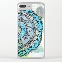 Serenity Mandala Clear iPhone Case