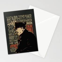 Winston Churchill Pop Art Quote Stationery Cards