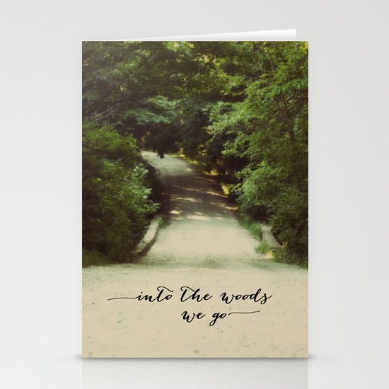 into the woods we go Stationery Cards