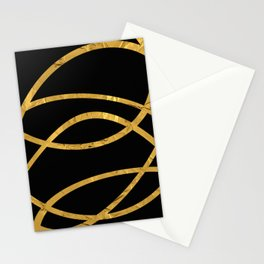 Golden Arcs - Abstract Stationery Cards