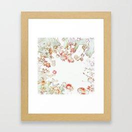 Ethereal Pastel Summer Garden Framed Art Print