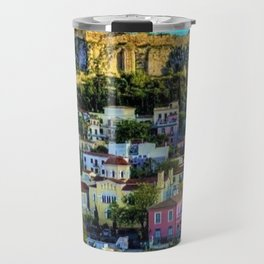 Daytime view of the Acropolis ruins; Athens, Greece Travel Mug