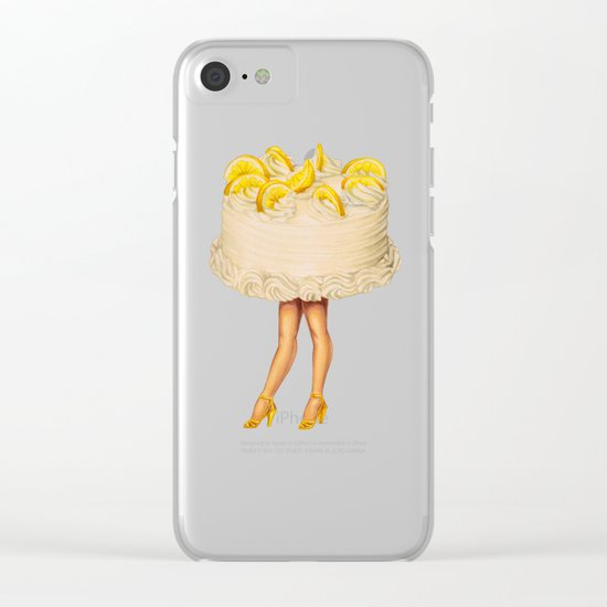 Cake Girl - Lemon Clear iPhone Case