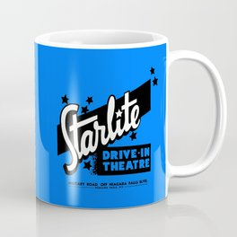 Starlite Drive-In Niagara Falls in Blue Coffee Mug