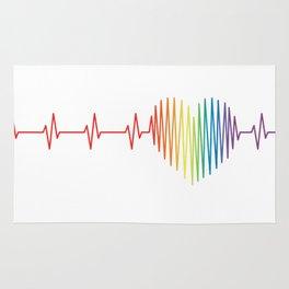 Heart Skips: White Rug