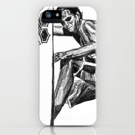 Surfer - Black and White iPhone Case