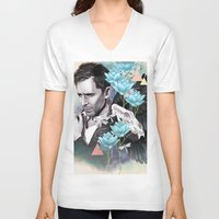 tom hiddleston V-neck T-shirts featuring Tom Hiddleston by Yan Ramirez