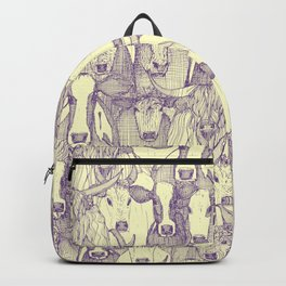just cattle purple cream Backpack