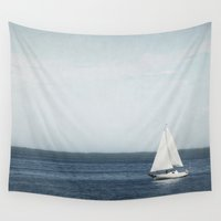 sail Wall Tapestries featuring Set Sail by Pure Nature Photos