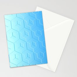 Silver to Blue Gradient Stationery Cards