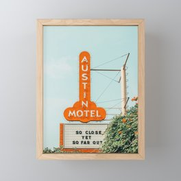 Austin Motel Sign, South Congress, Austin, Texas Framed Mini Art Print
