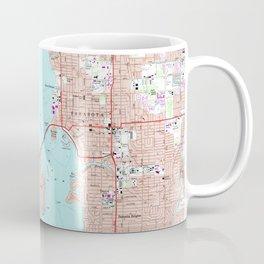 Vintage Map of Sarasota Florida (1973) Coffee Mug