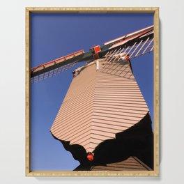 1745 Windmill sundown geometrics Serving Tray