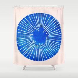 Blue Circle Shower Curtain