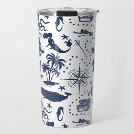 High Seas Adventure // Navy Blue Travel Mug
