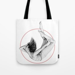 "Pink Circle - ""FALLING"" by A.Grahovsky Tote Bag"