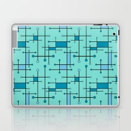 Intersecting Lines in Mint and Blues Laptop & iPad Skin