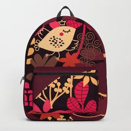 Afro Diva : Sophisticated Lady Deep Pink & Burgundy Backpack