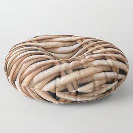 Rustic basket Floor Pillow