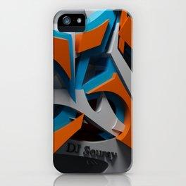 3d graffiti iPhone Case