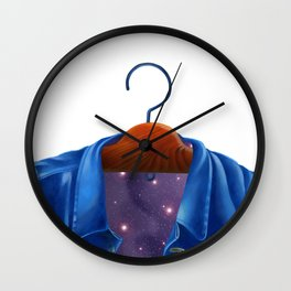 Universe in a Jacket jeans that hung on the hanger Wall Clock