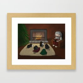 Storytime, (The Unexpected Adventures: Christmas Edition) Framed Art Print