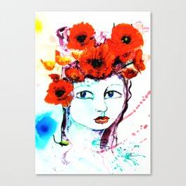 The Lady Poppy Canvas Print