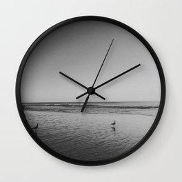 HALF MOON BAY (B+W) Wall Clock