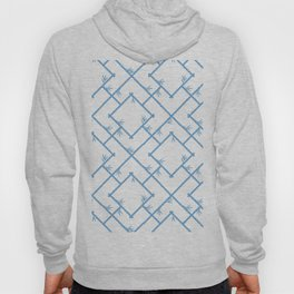 Bamboo Chinoiserie Lattice in White + Light Blue Hoody