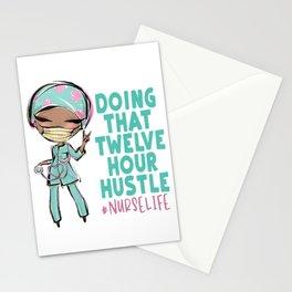 12 Hour Hustle Shirt NurseLife Black Nurse Gift HHA CNA RN T-Shirt Stationery Cards