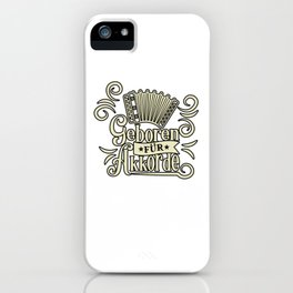 Born for Chords Musicians Accordion iPhone Case