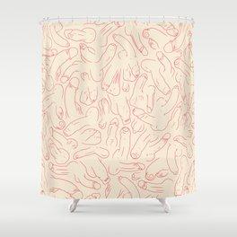Penis Pattern Shower Curtain