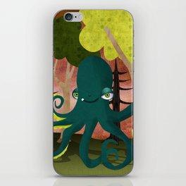 octopus vs sasquatch iPhone Skin