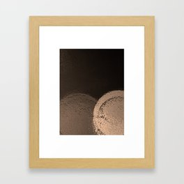 Dark Night Sepia Framed Art Print