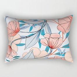 artistic poppies Rectangular Pillow