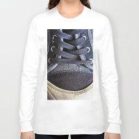 shoe Long Sleeve T-shirts featuring Shoe by Fine2art