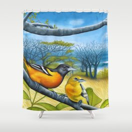 Surf Report Shower Curtain
