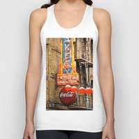 coca cola Tank Tops featuring CHINESE COCA COLA SIGNBOARD by Voodoo Bench