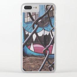 Meow Graffiti Clear iPhone Case