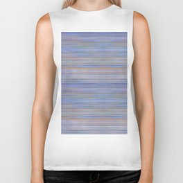 Colorful Abstract Stripped Pattern Biker Tank