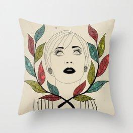 Little Miss Scatterbrain Throw Pillow