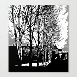 Town Trees Canvas Print